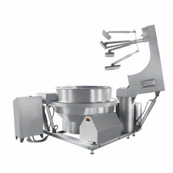 Automatic Muti-agitators Cooking Mixer lifting the agitators