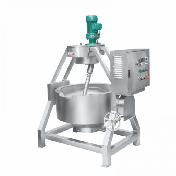Manual Tilted Electromagnetic Heating Jacketed Cooking Mixer