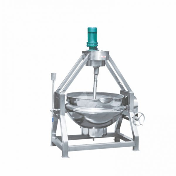 Manual Tilted Steam Heating Jacketed Cooking Mixer