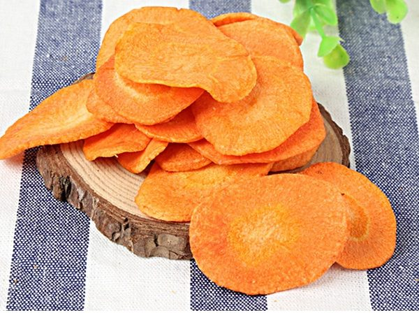 vacuum fried carrot chips